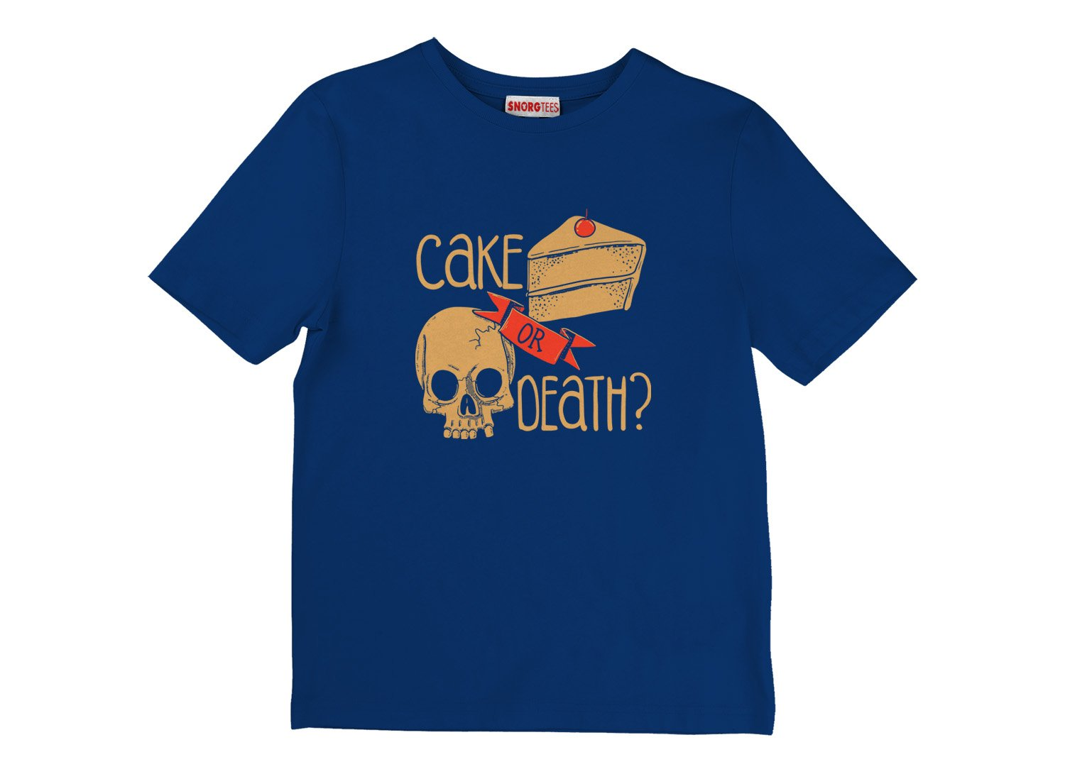 Cake Or Death? on Kids T-Shirt