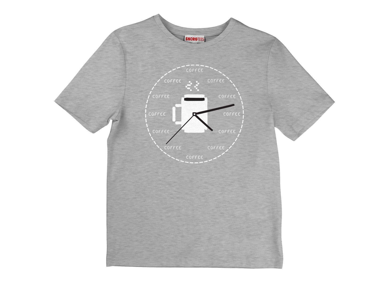 Coffee O'Clock on Kids T-Shirt