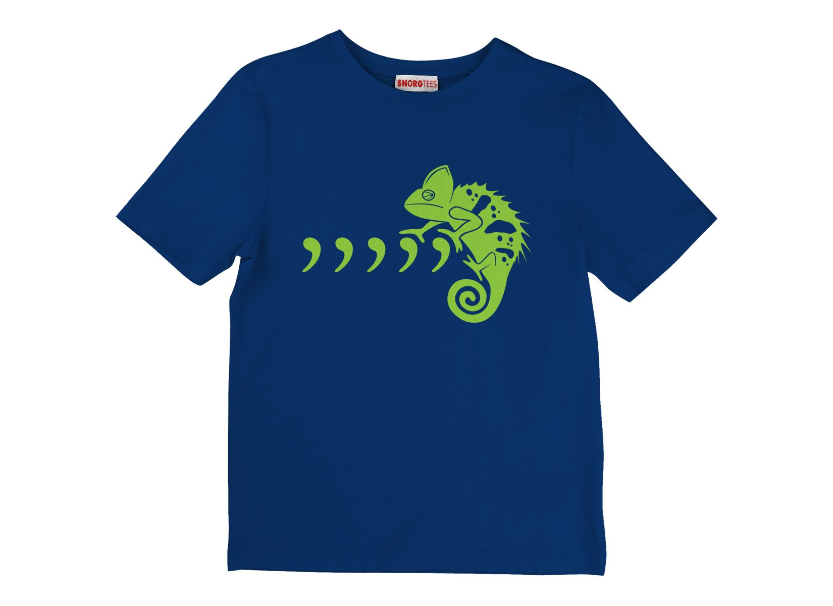 Comma Chameleon on Kids T-Shirt