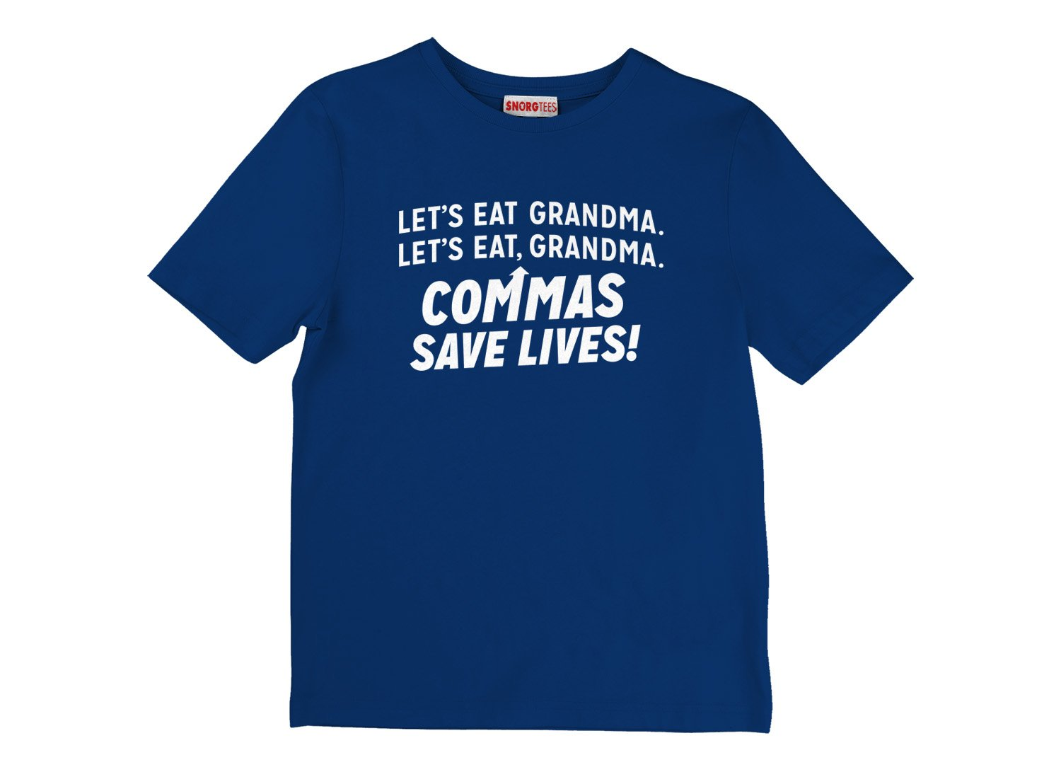 Commas Save Lives! on Kids T-Shirt