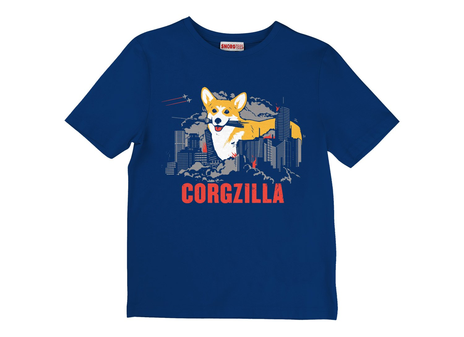 Corgzilla on Kids T-Shirt