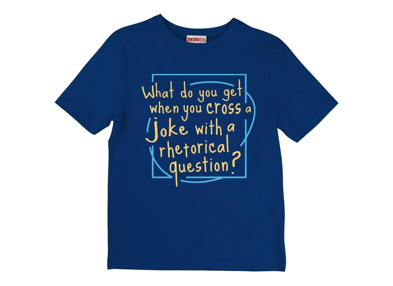 When You Cross A Joke With A Rhetorical Question? on Kids T-Shirt