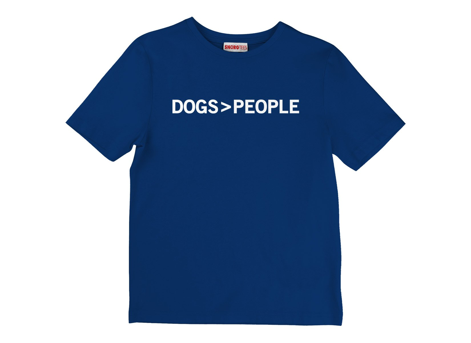 Dogs>People on Kids T-Shirt