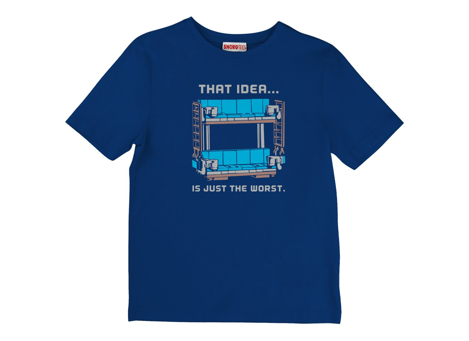 Double Decker Couch on Kids T-Shirt