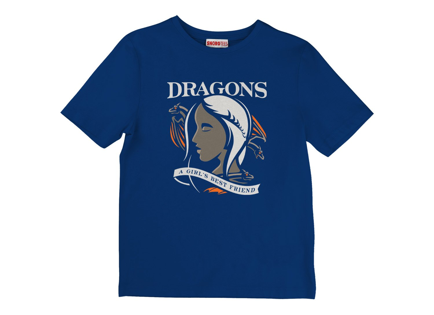Dragons Are A Girl's Best Friend on Kids T-Shirt