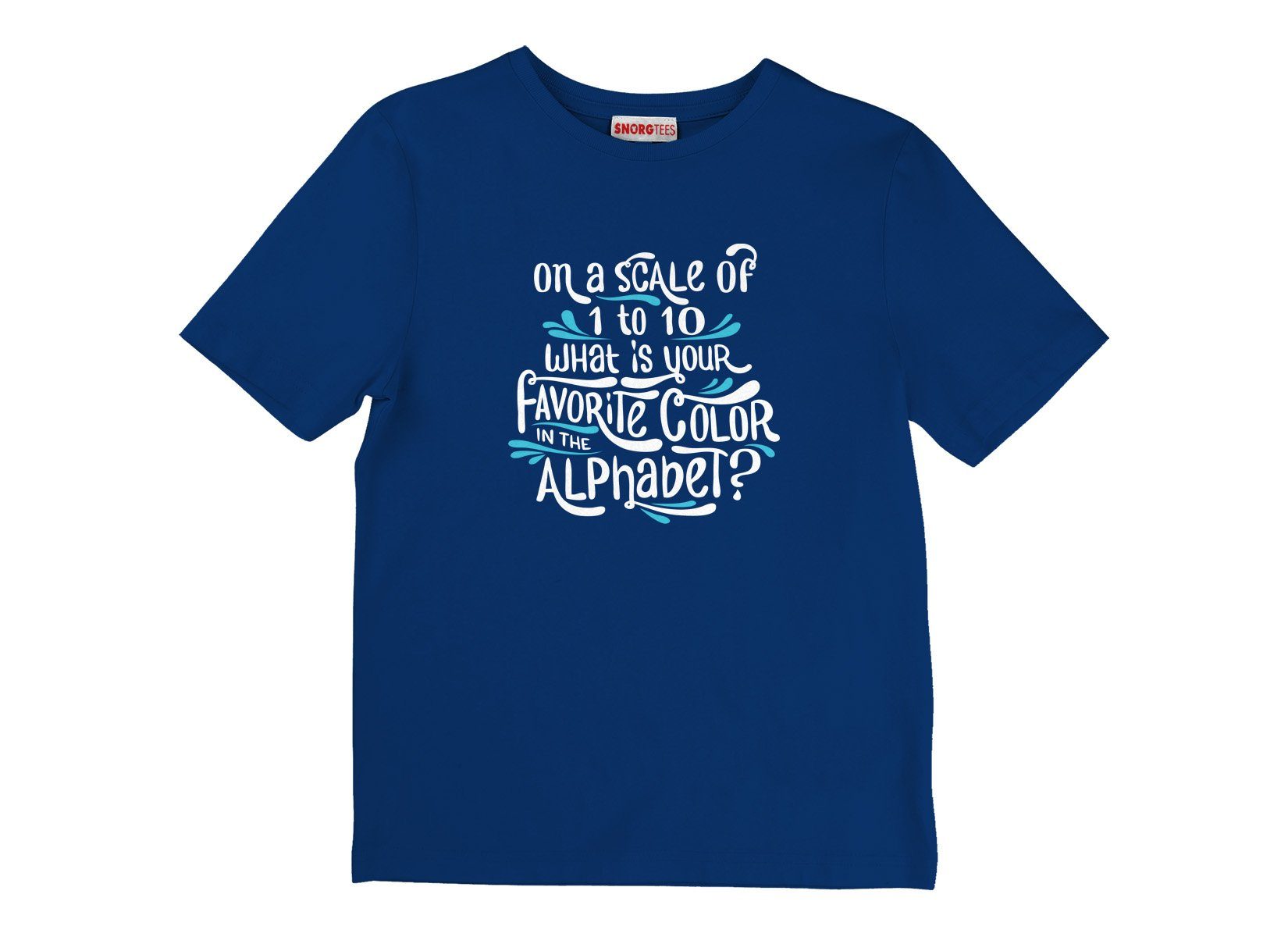 Favorite Color In The Alphabet on Kids T-Shirt