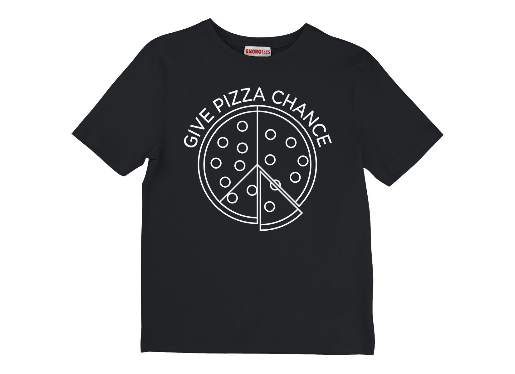 Give Pizza A Chance on Kids T-Shirt