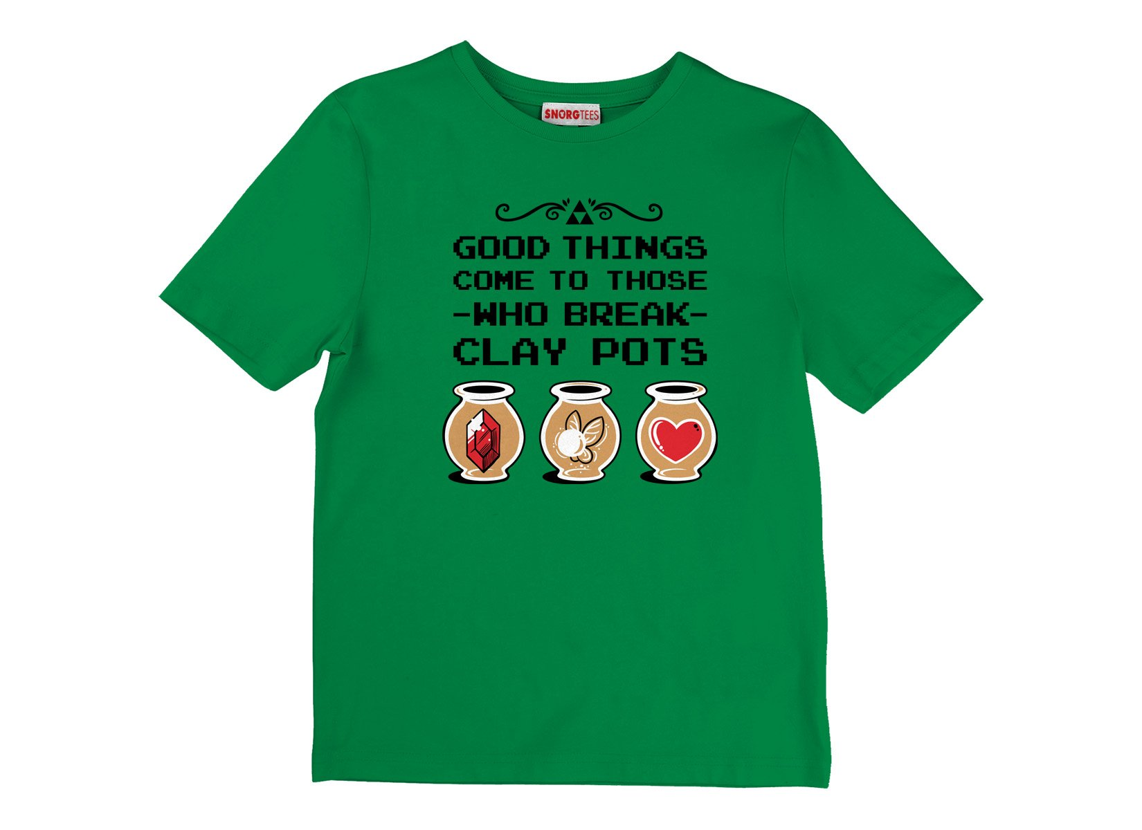 Good Things Come To Those Who Break Clay Pots on Kids T-Shirt