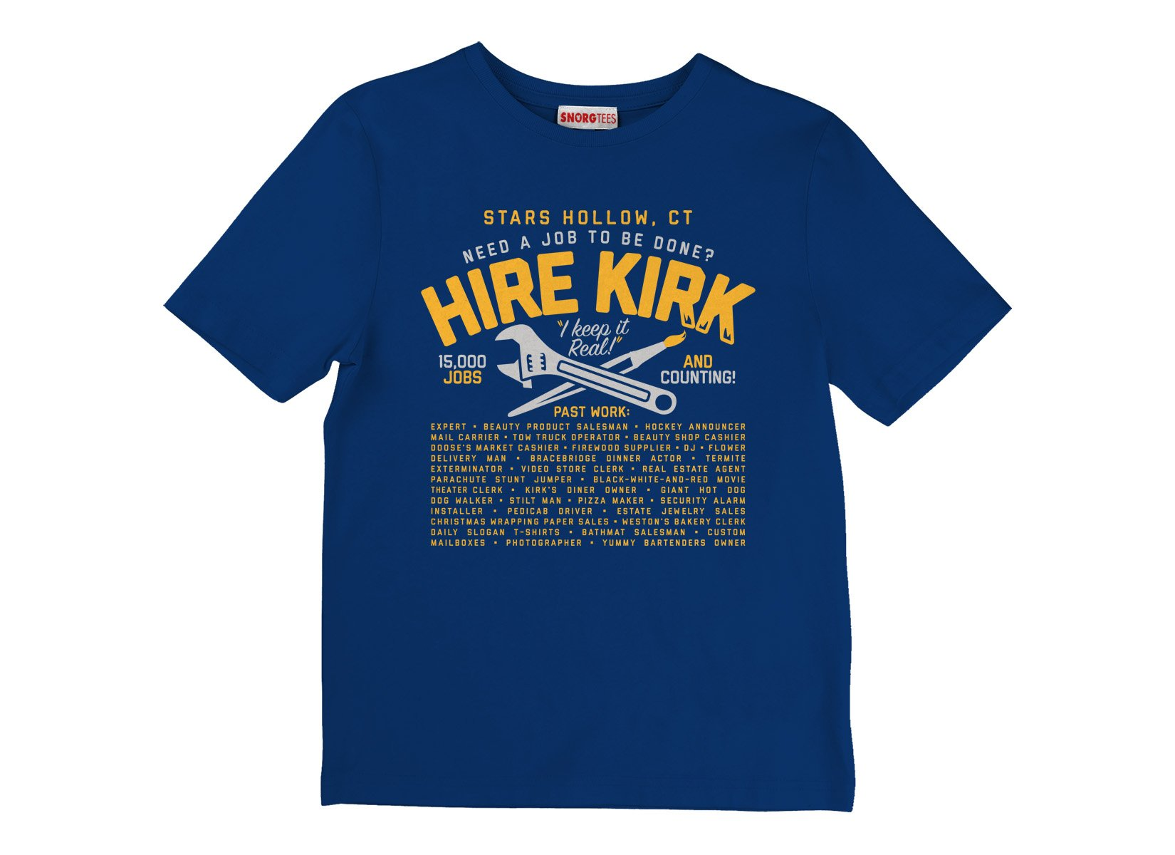 Hire Kirk on Kids T-Shirt