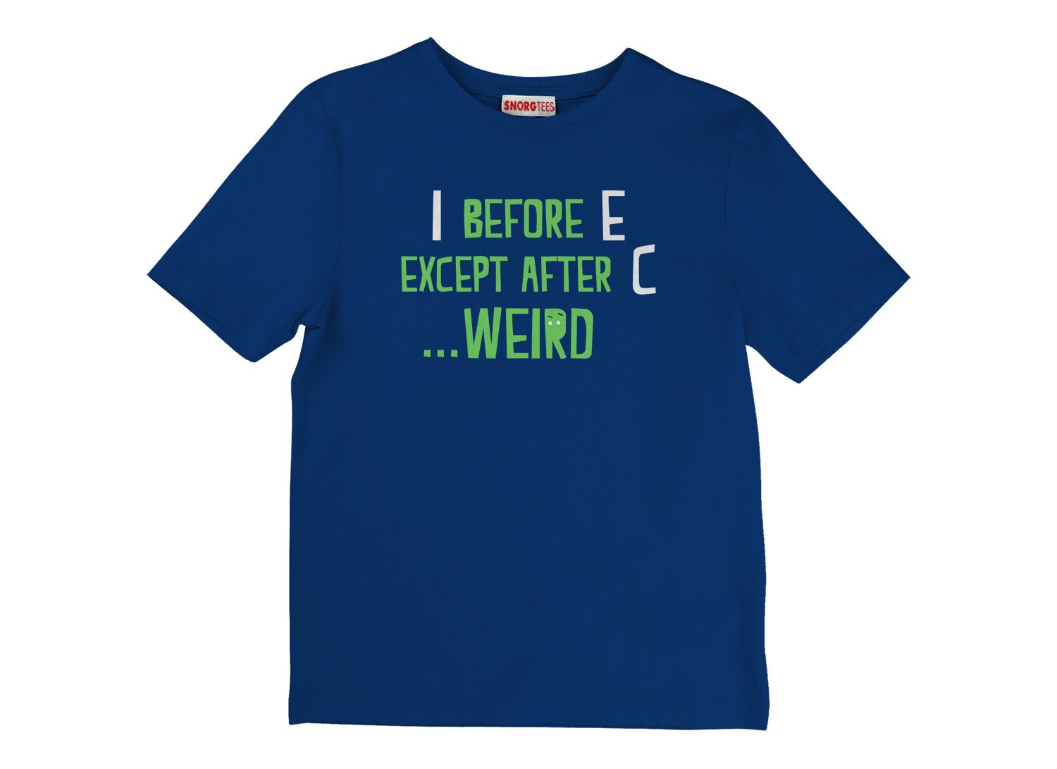 I Before E Except After C on Kids T-Shirt