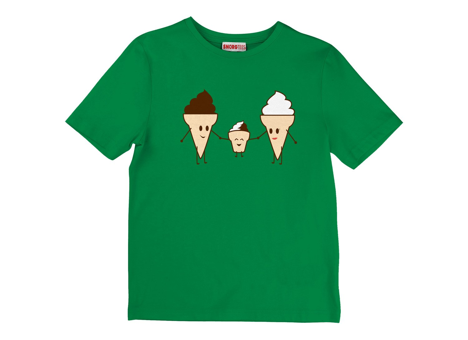 Ice Cream Family on Kids T-Shirt