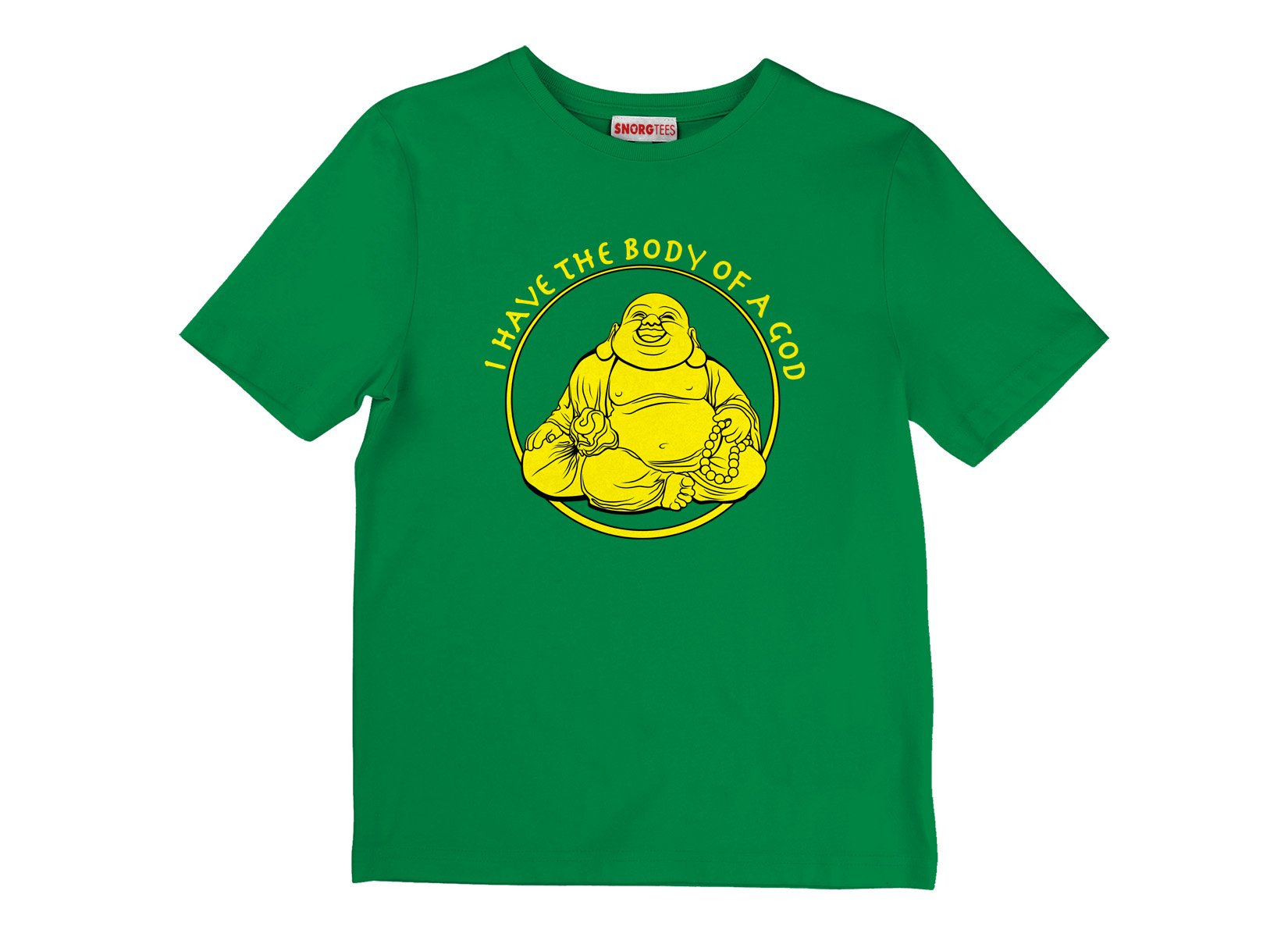 I Have the Body of a God on Kids T-Shirt