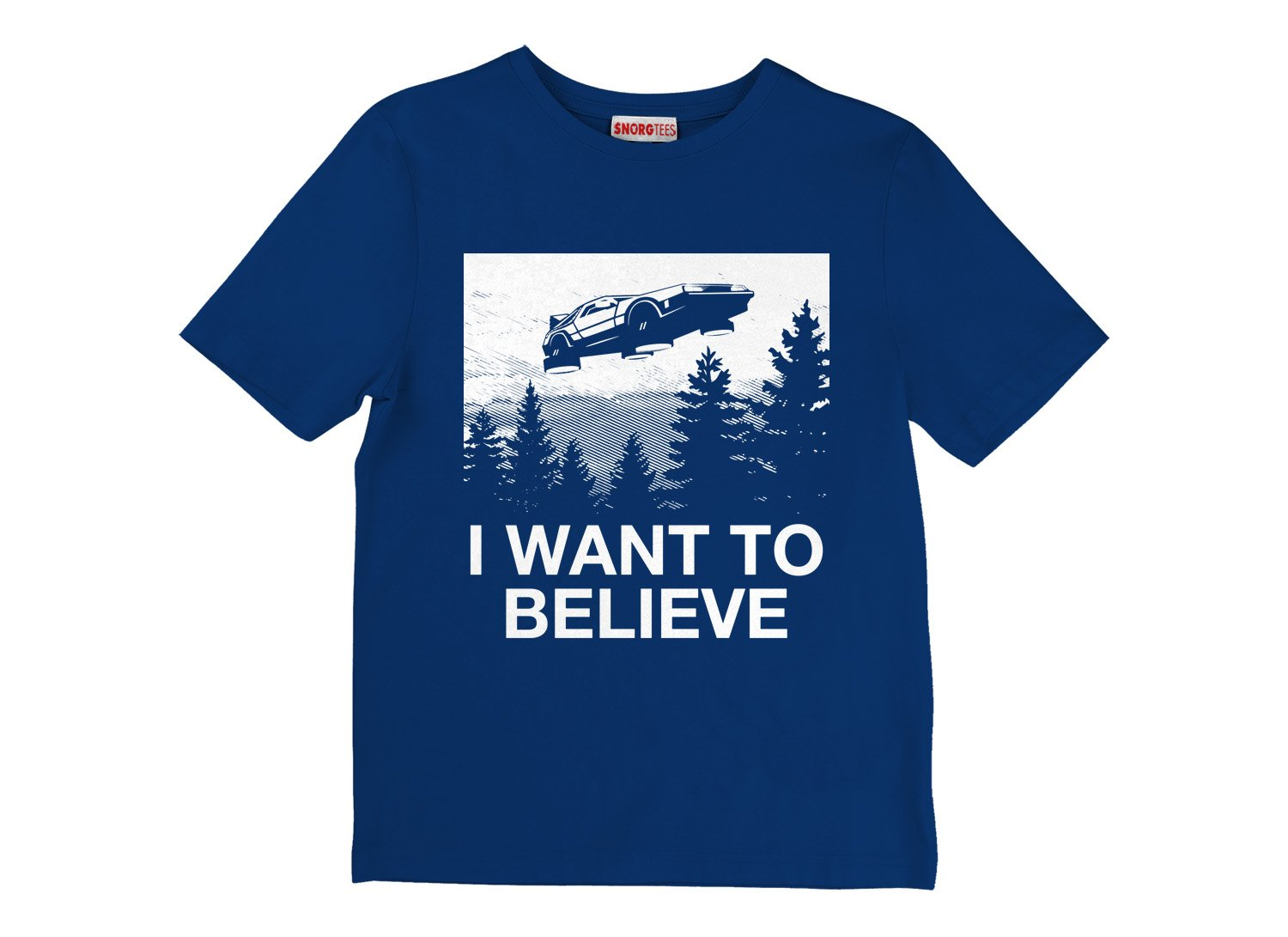I Want To Believe on Kids T-Shirt