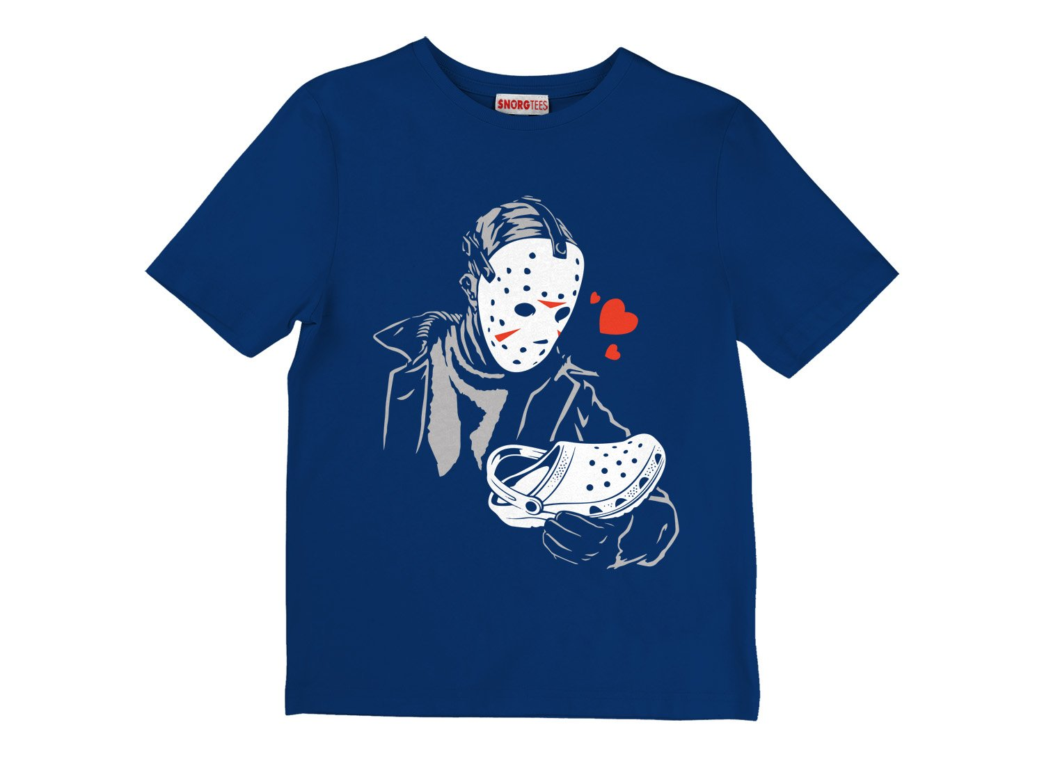 Jason Loves Crocs on Kids T-Shirt