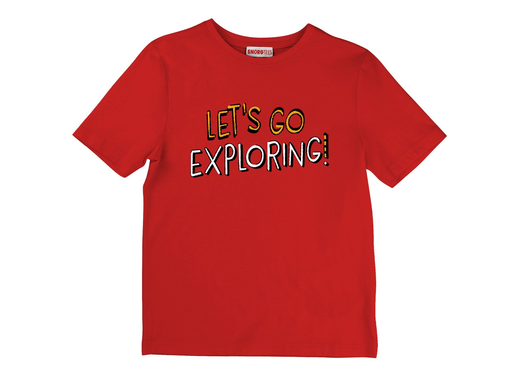 Let's Go Exploring! on Kids T-Shirt