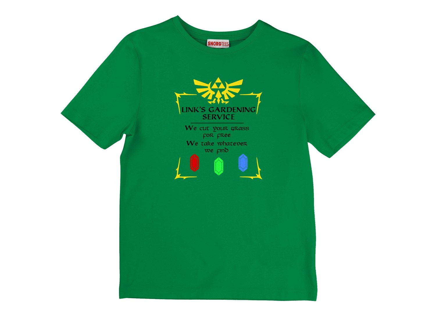Link's Gardening Service on Kids T-Shirt