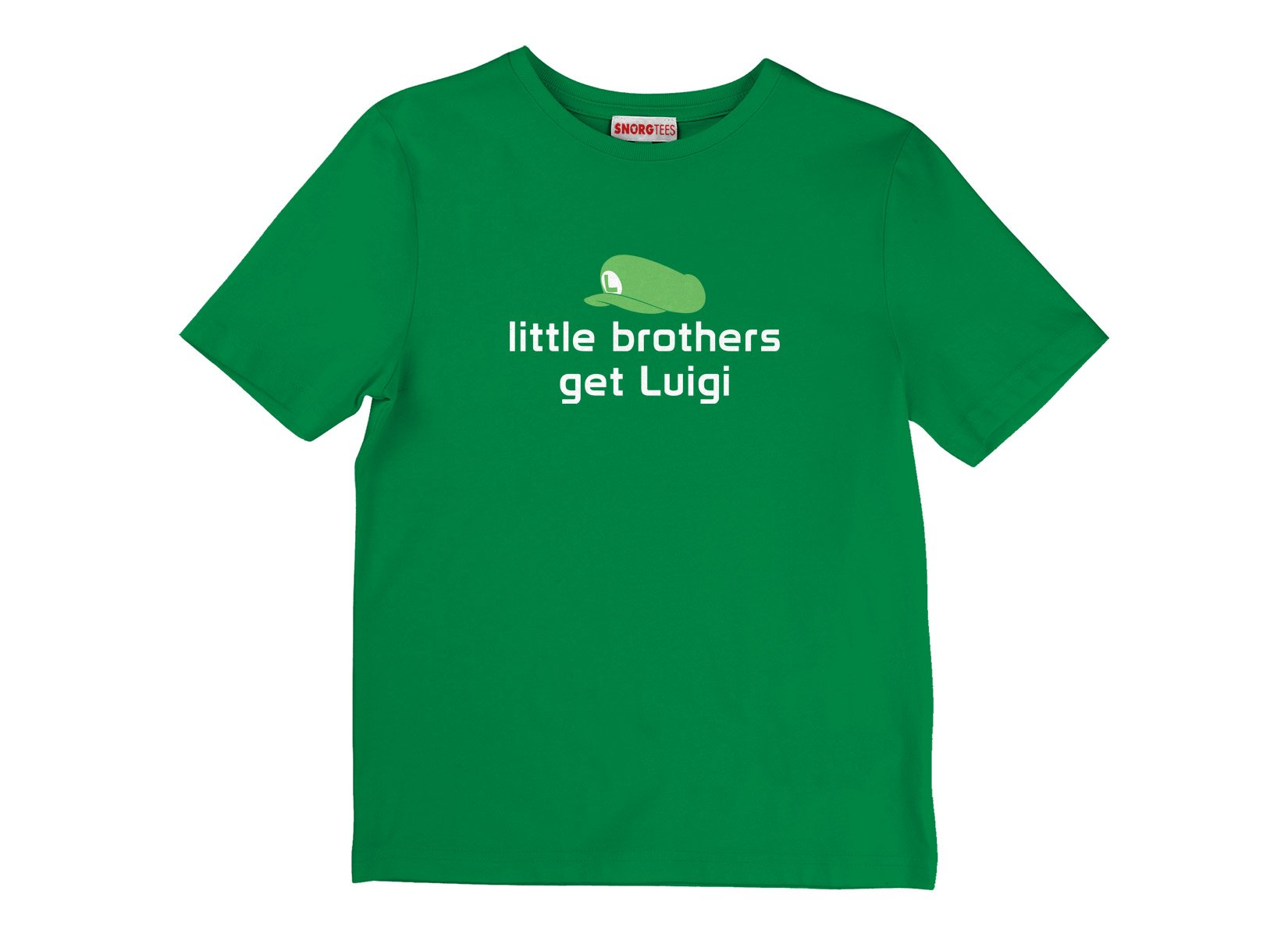 Little Brothers Get Luigi on Kids T-Shirt