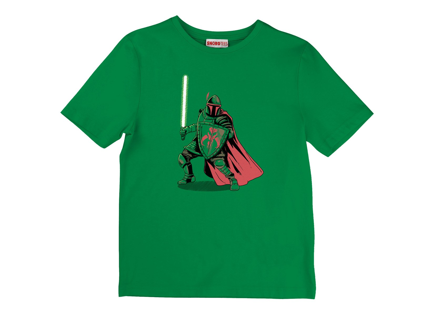 Mandalorian Knight on Kids T-Shirt