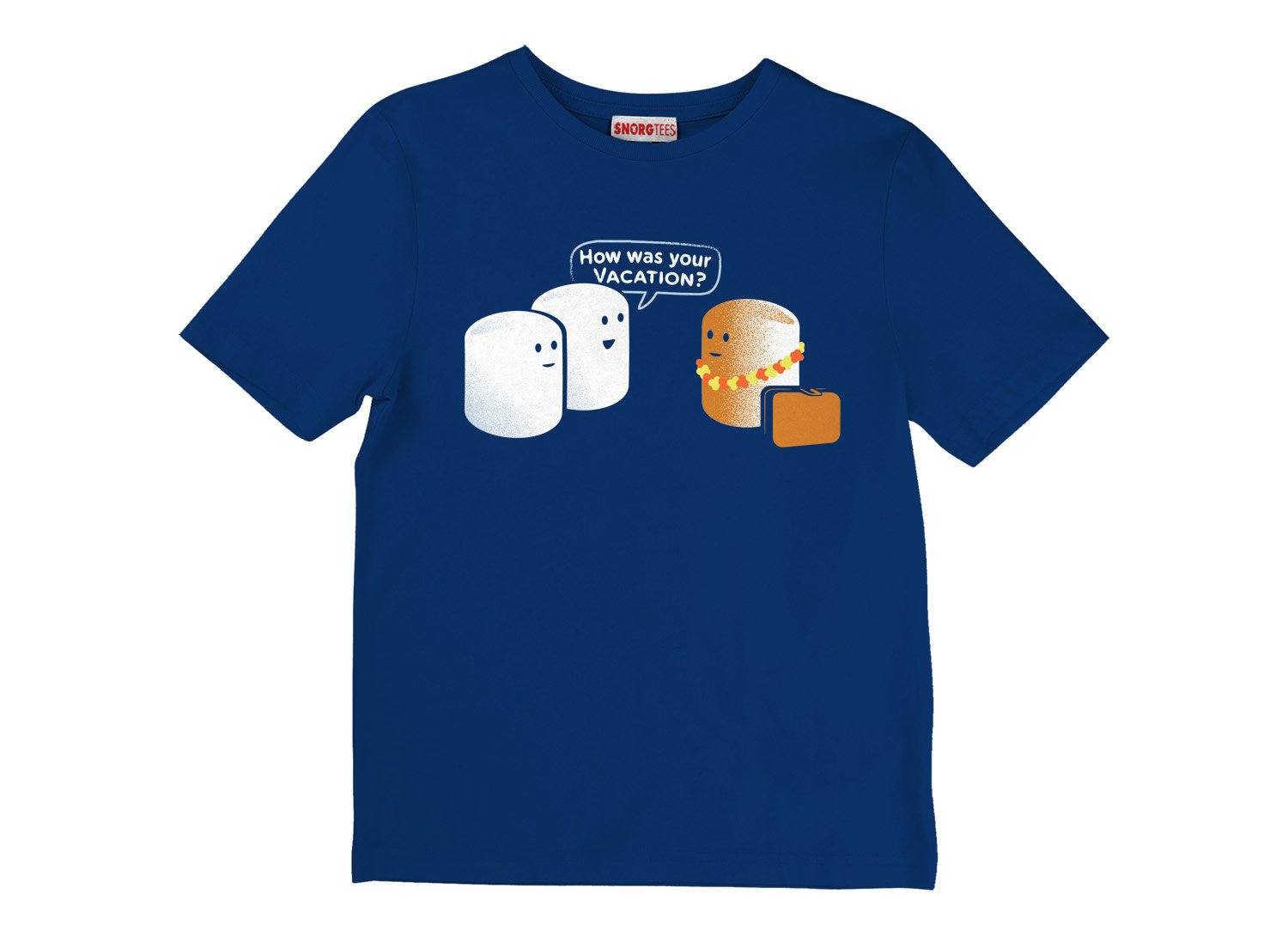 Marshmallow Vacation on Kids T-Shirt