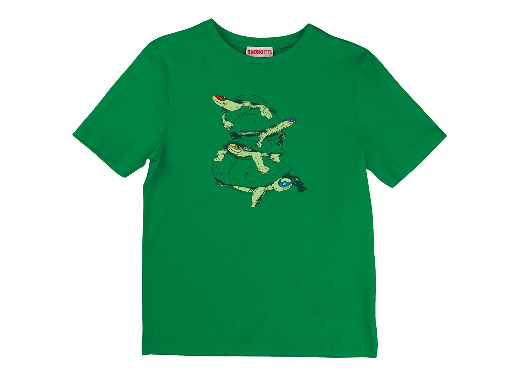 Masked Turtles on Kids T-Shirt