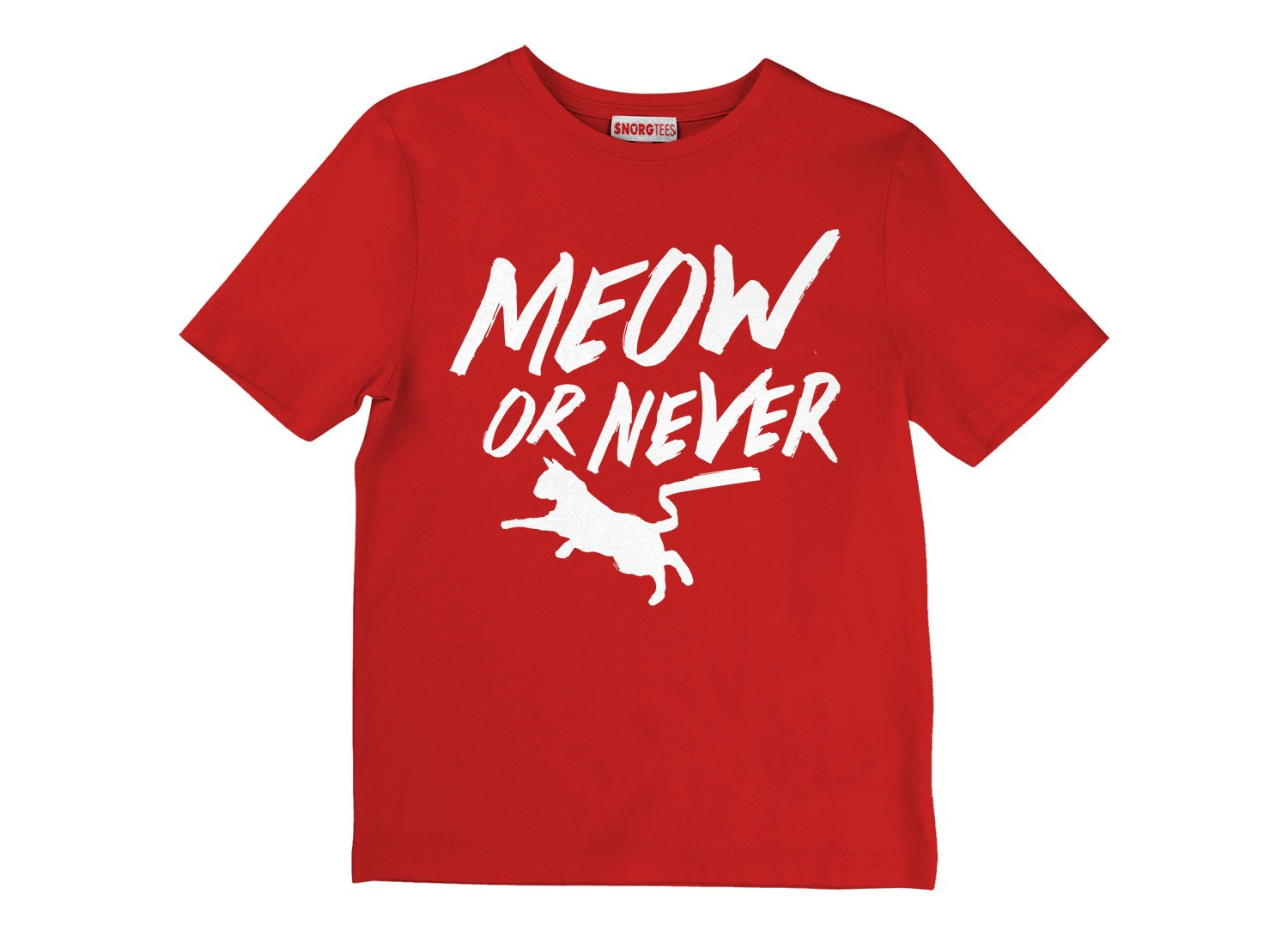 Meow Or Never on Kids T-Shirt