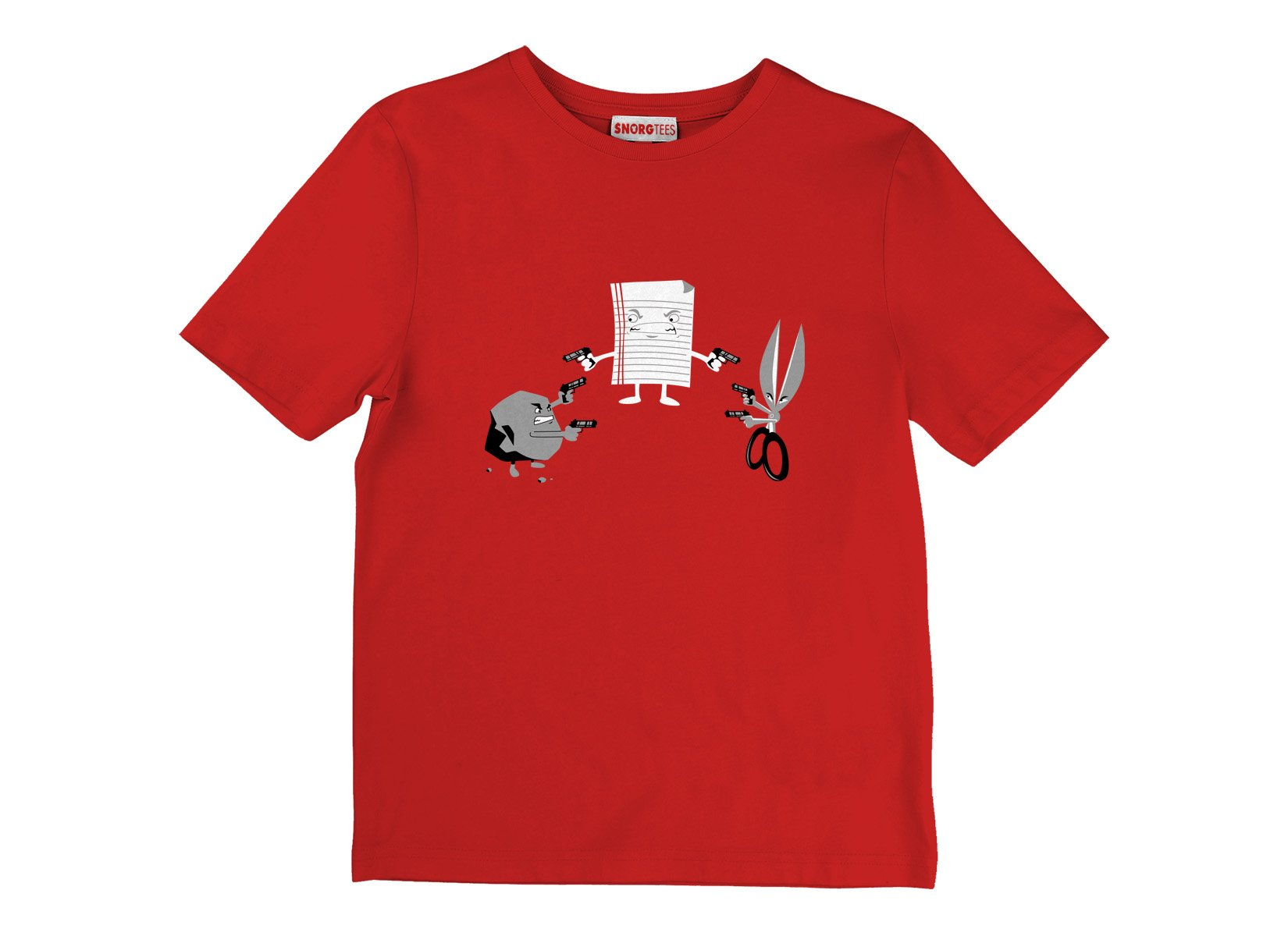 Mexican Standoff on Kids T-Shirt