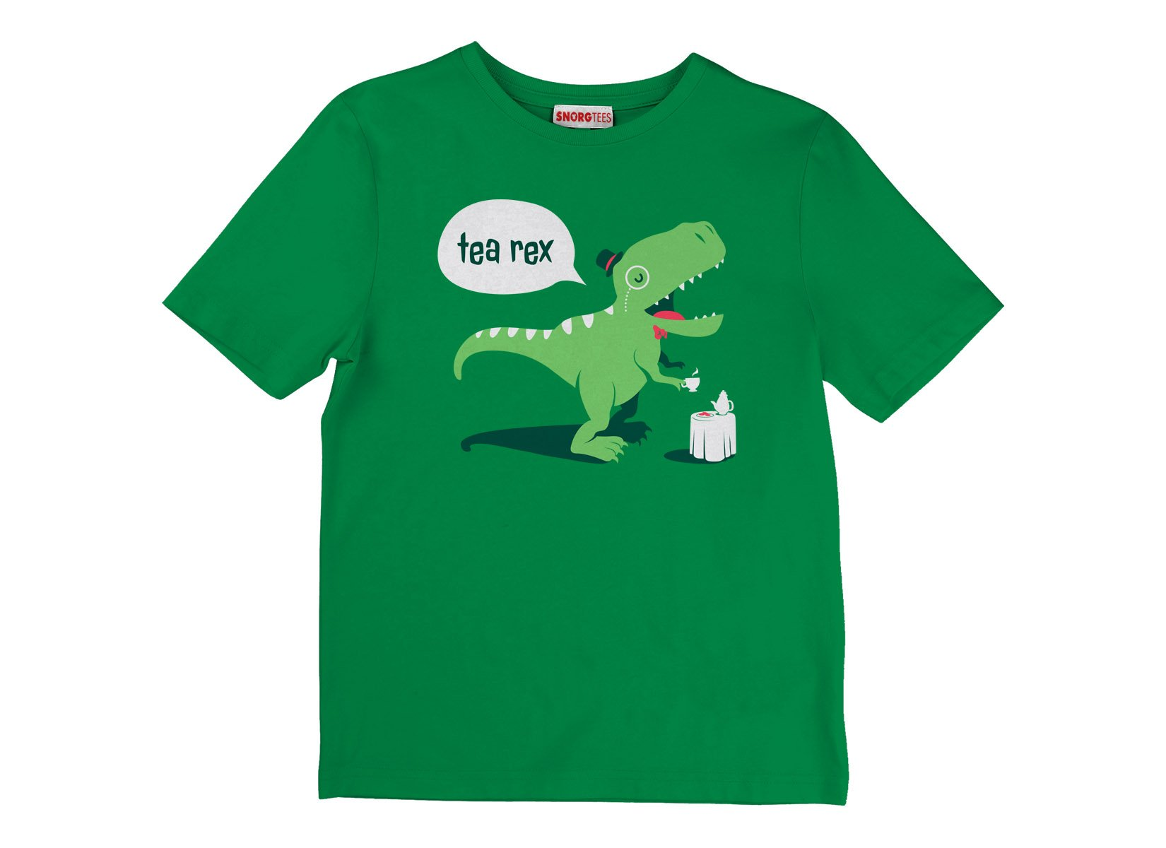 Tea Rex on Kids T-Shirt