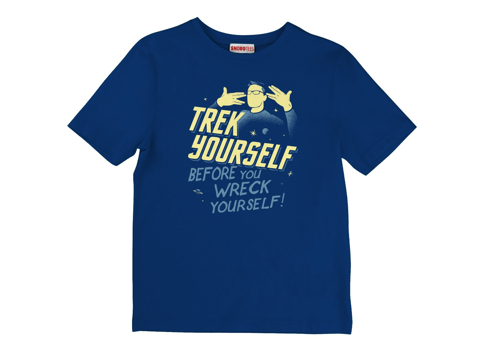 Trek Yourself Before You Wreck Yourself on Kids T-Shirt