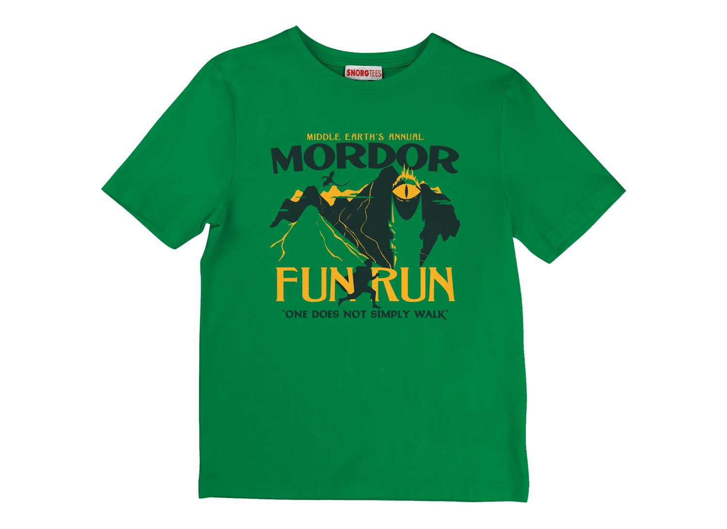 Mordor Fun Run on Kids T-Shirt