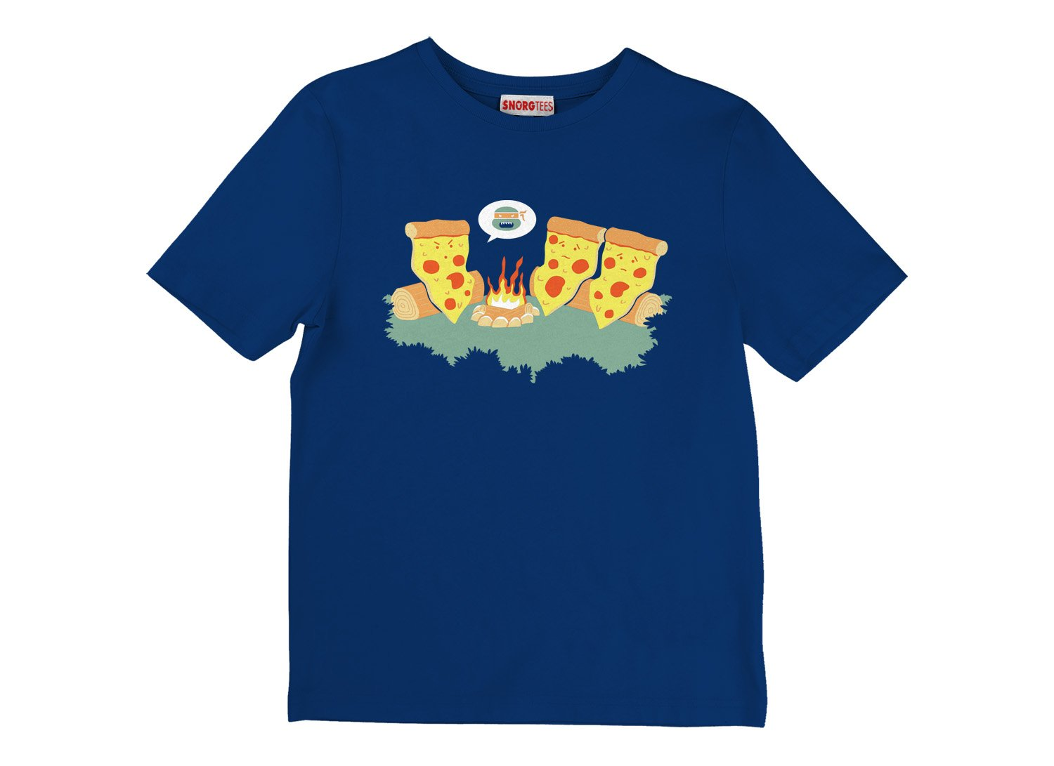 Pizza Campfire Story on Kids T-Shirt
