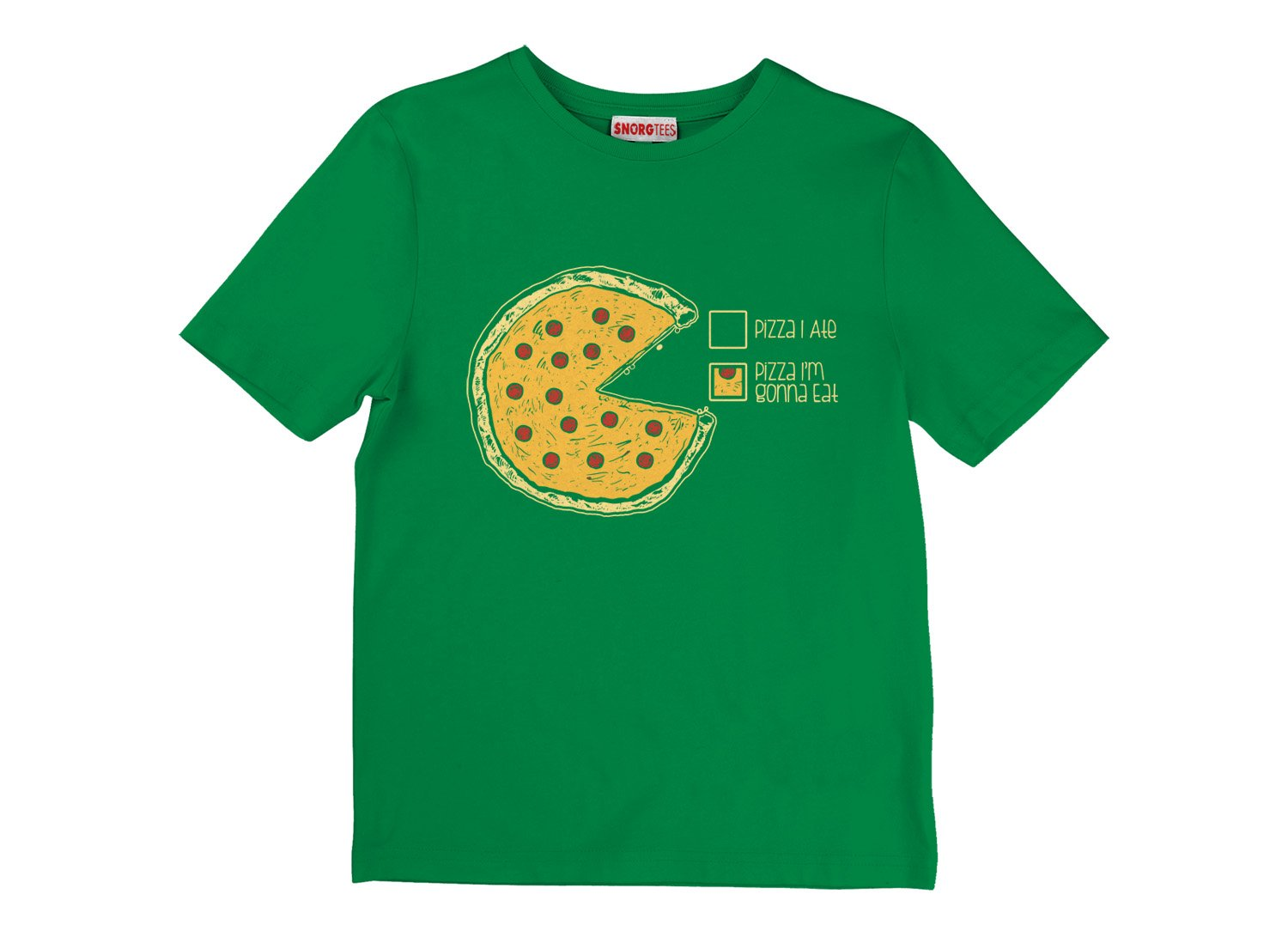 Pizza Pie Chart on Kids T-Shirt
