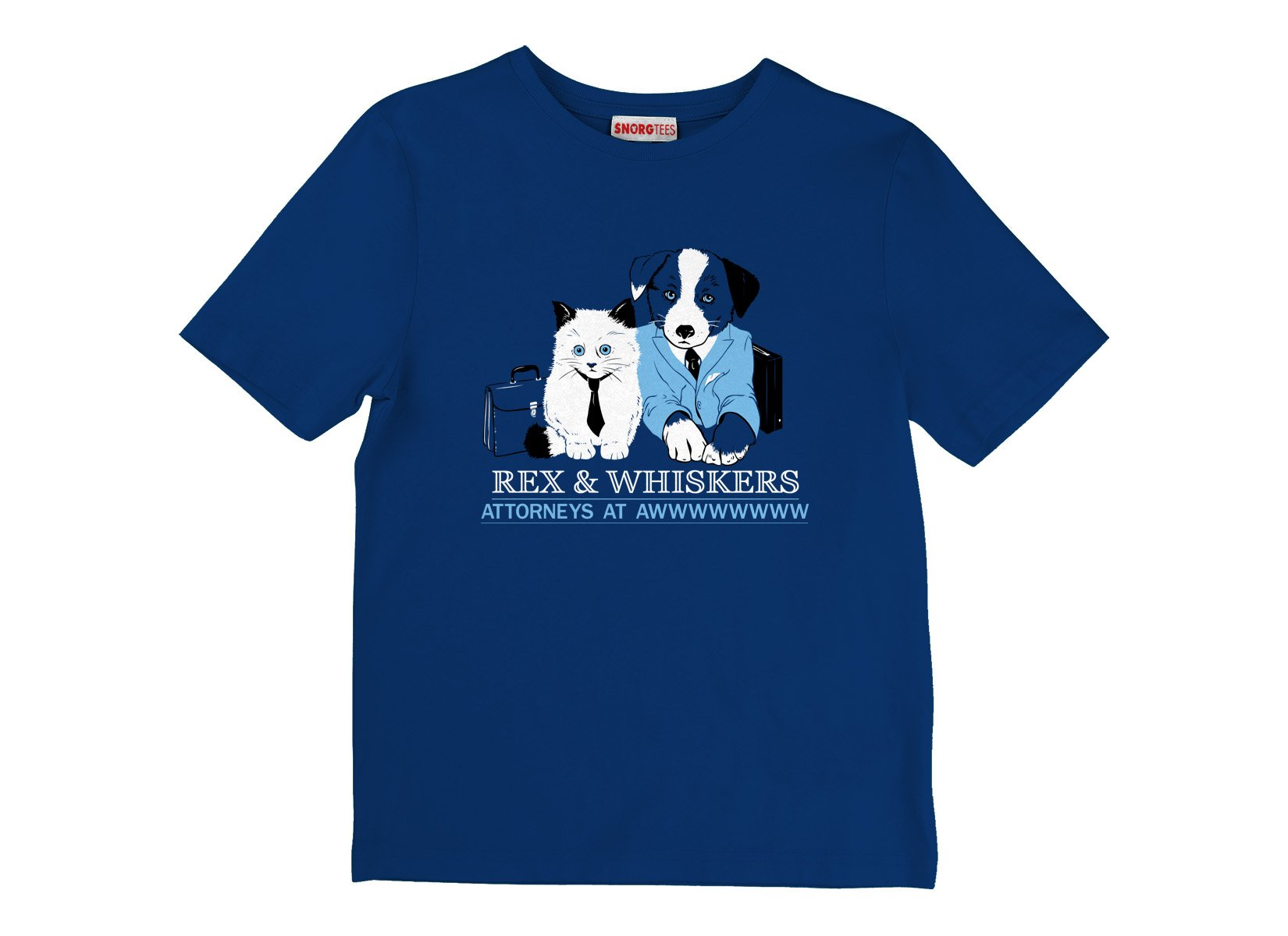 Rex and Whiskers Attorneys on Kids T-Shirt