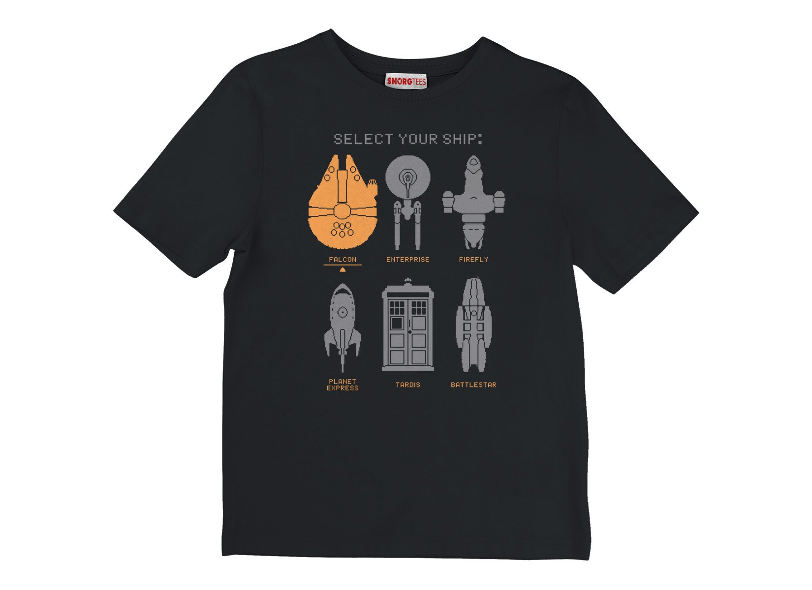 Select Your Ship on Kids T-Shirt