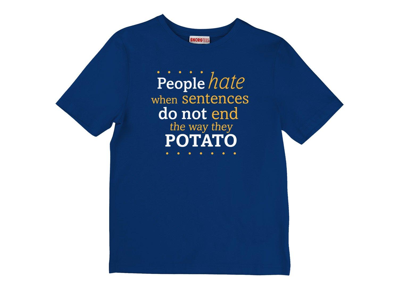 Sentences That End In Potato on Kids T-Shirt
