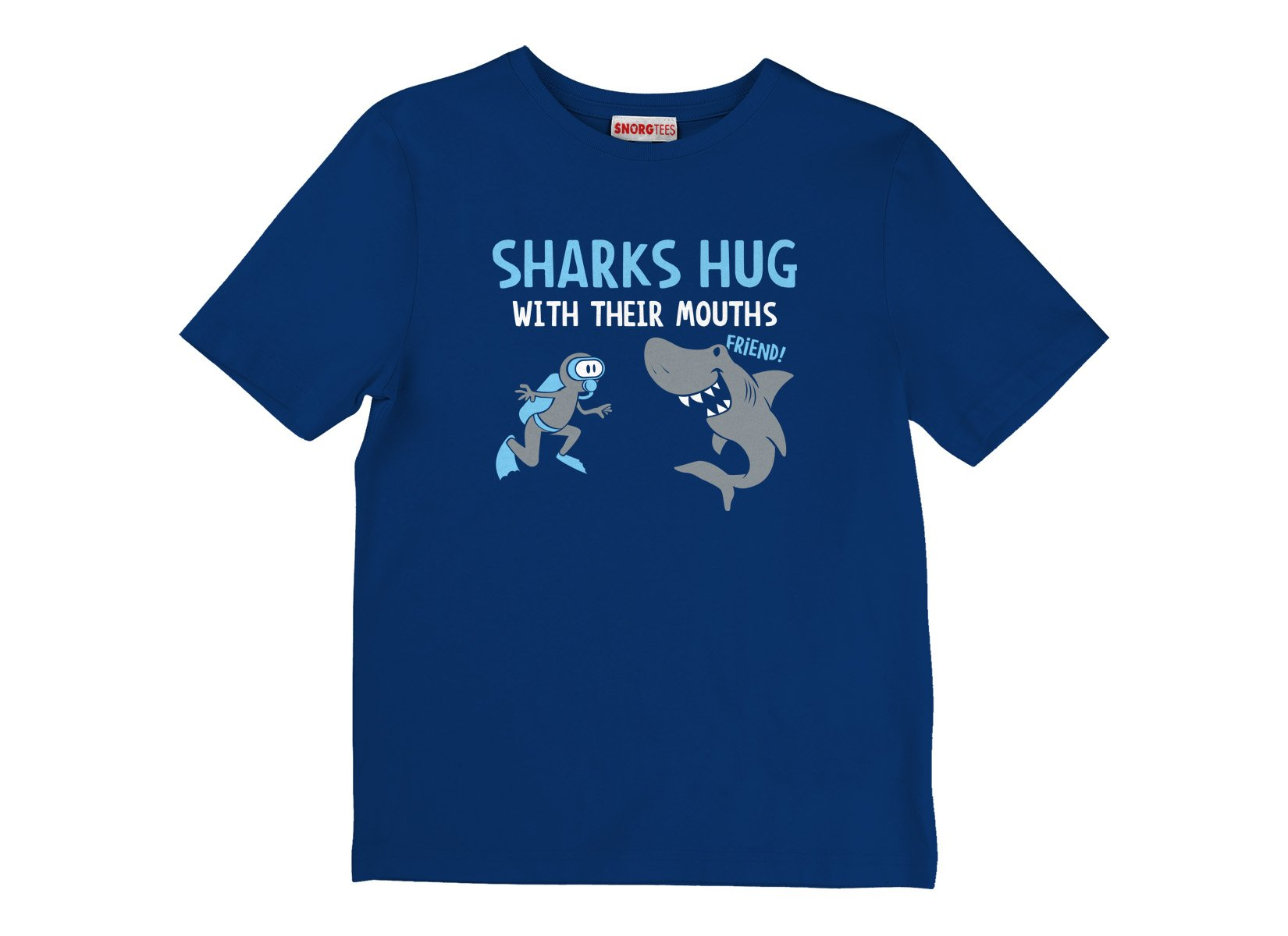Sharks Hug With Their Mouths on Kids T-Shirt