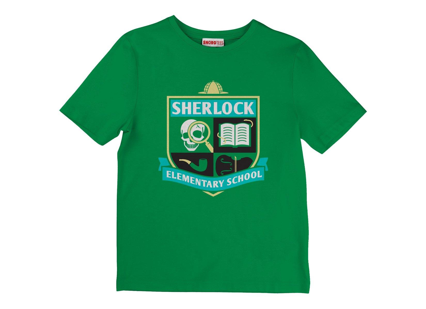 Sherlock Elementary School on Kids T-Shirt
