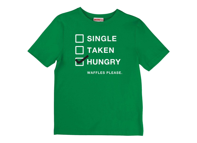 Single, Taken, Hungry on Kids T-Shirt