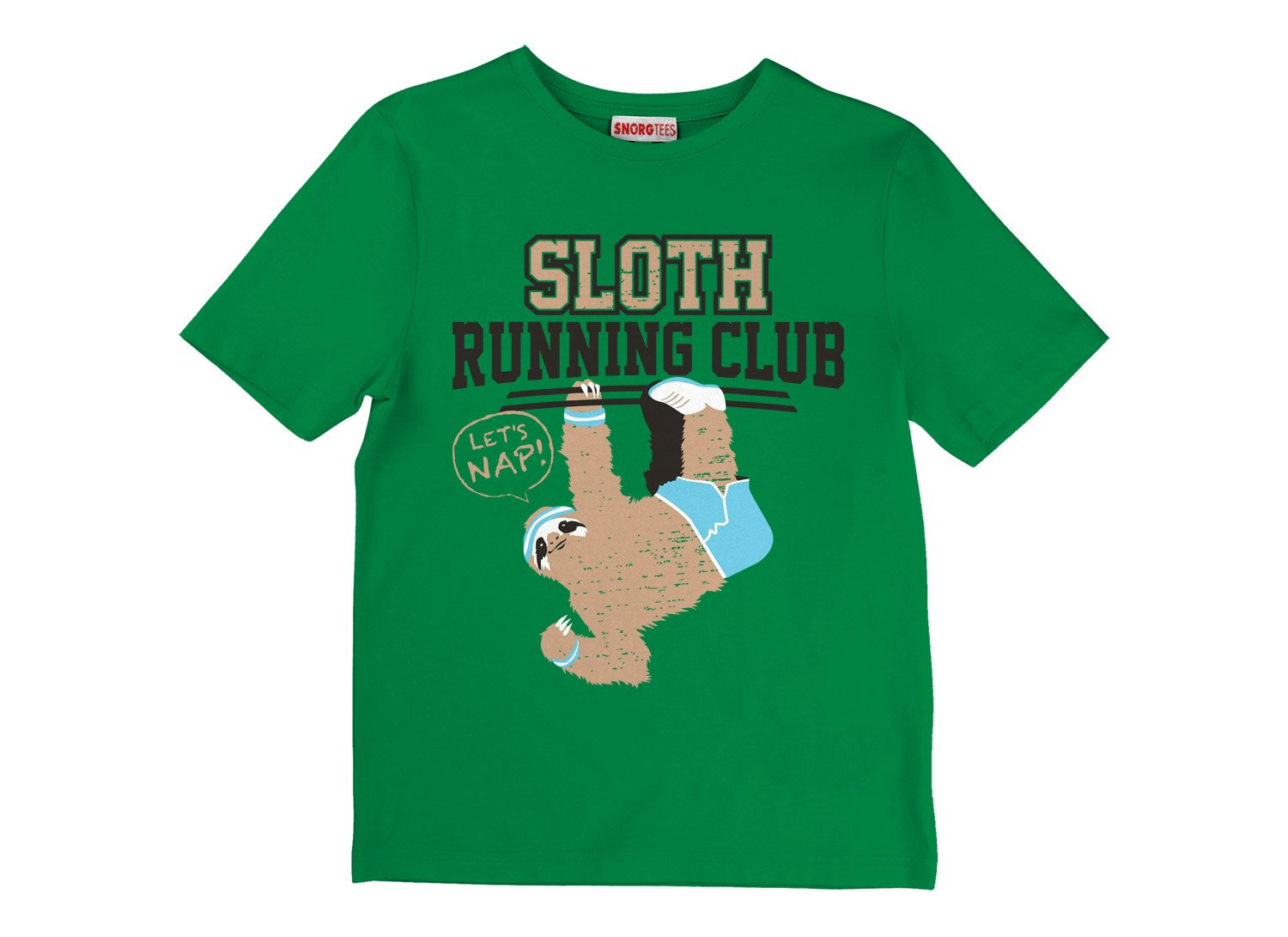 Sloth Running Club on Kids T-Shirt