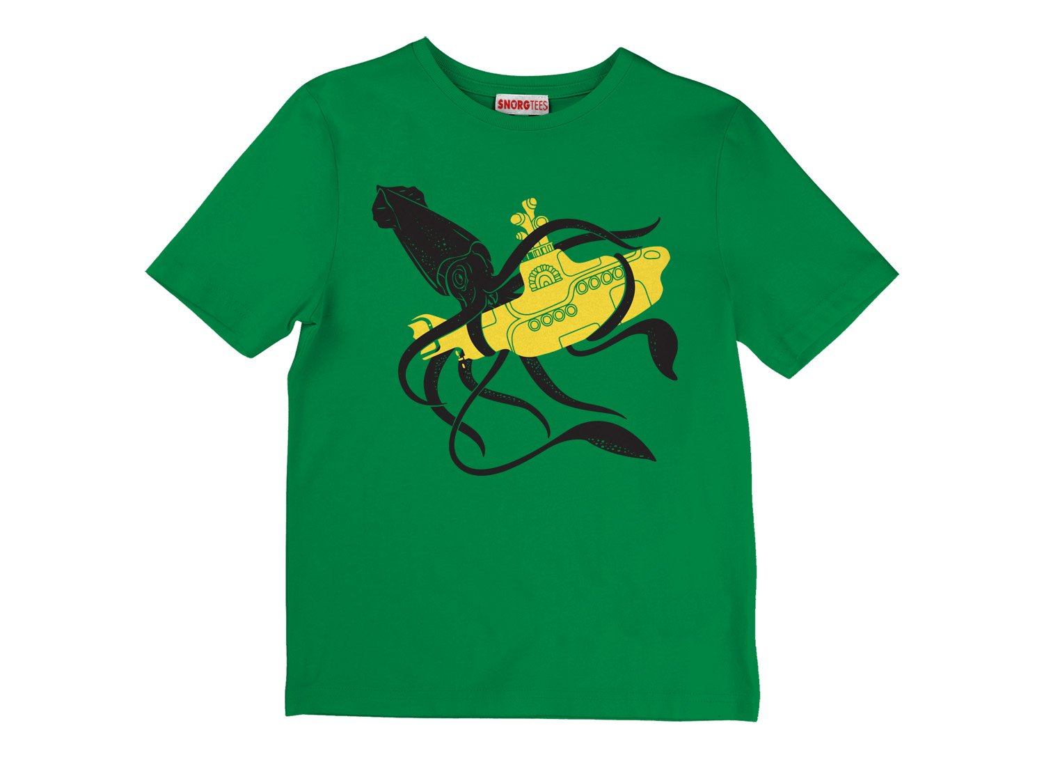 Squid Sub Battle on Kids T-Shirt