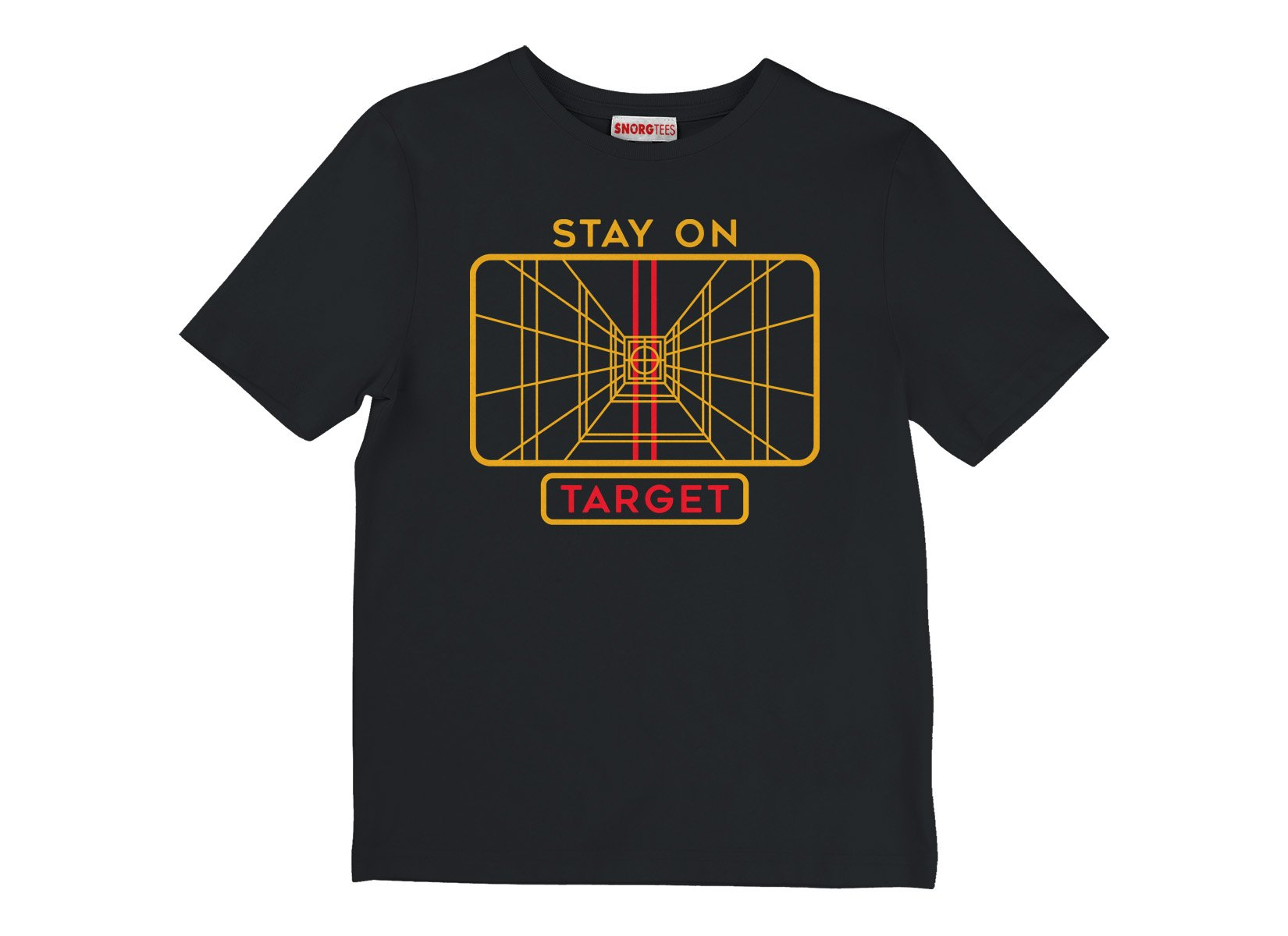 Stay On Target on Kids T-Shirt