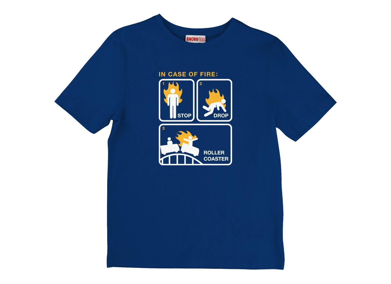 Stop Drop Roller Coaster on Kids T-Shirt