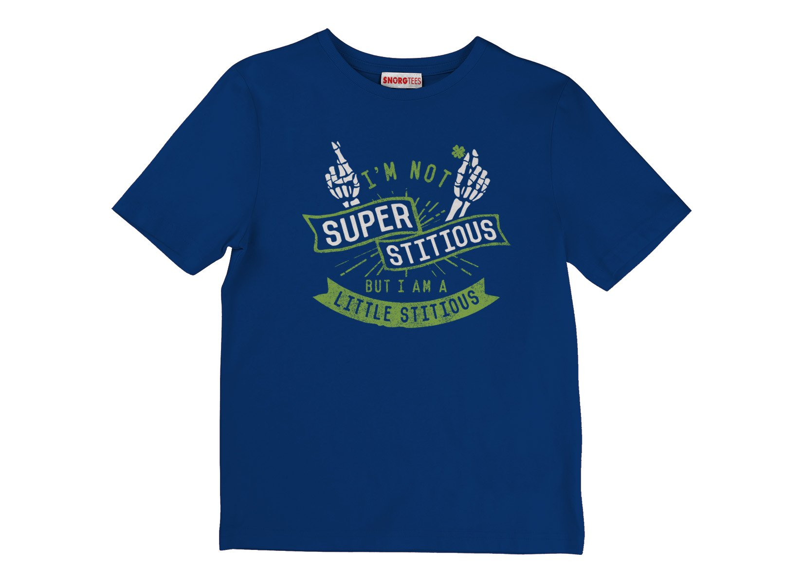 I'm Not Superstitious, But I Am A Little Stitious on Kids T-Shirt