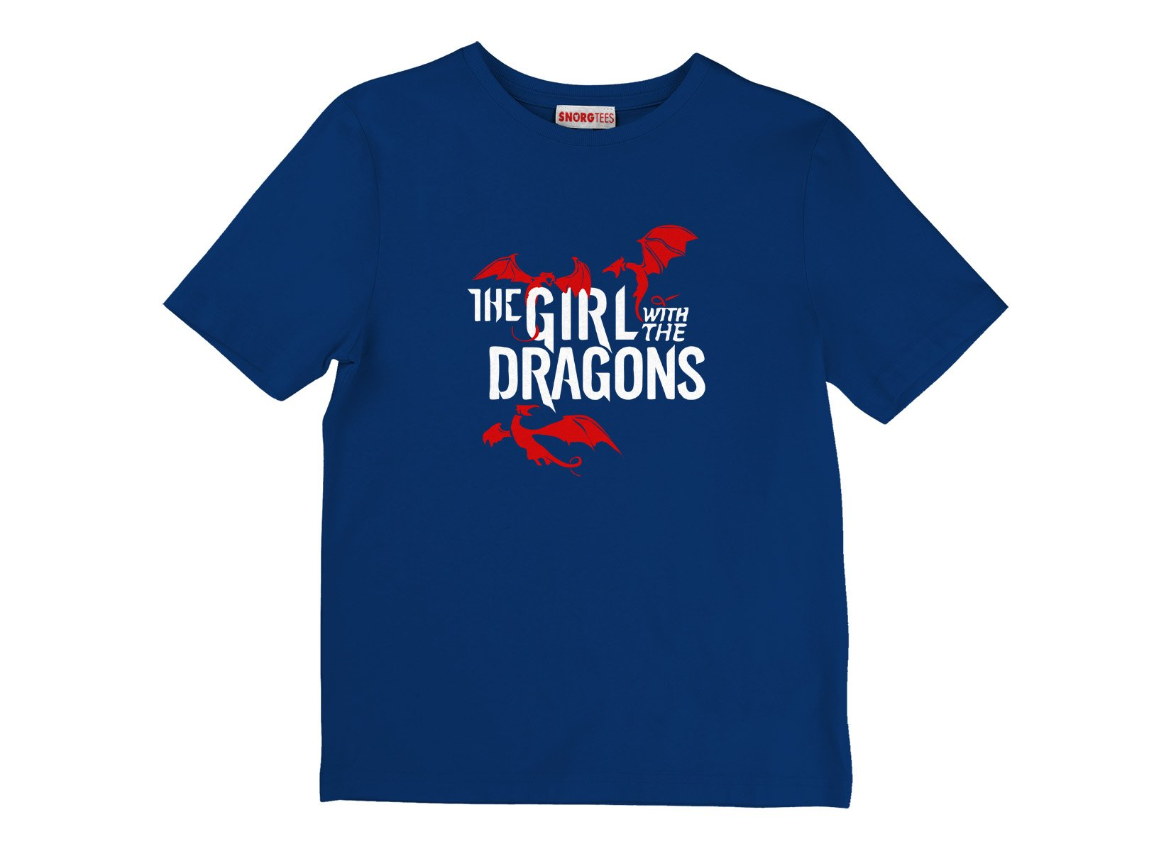 The Girl With The Dragons on Kids T-Shirt