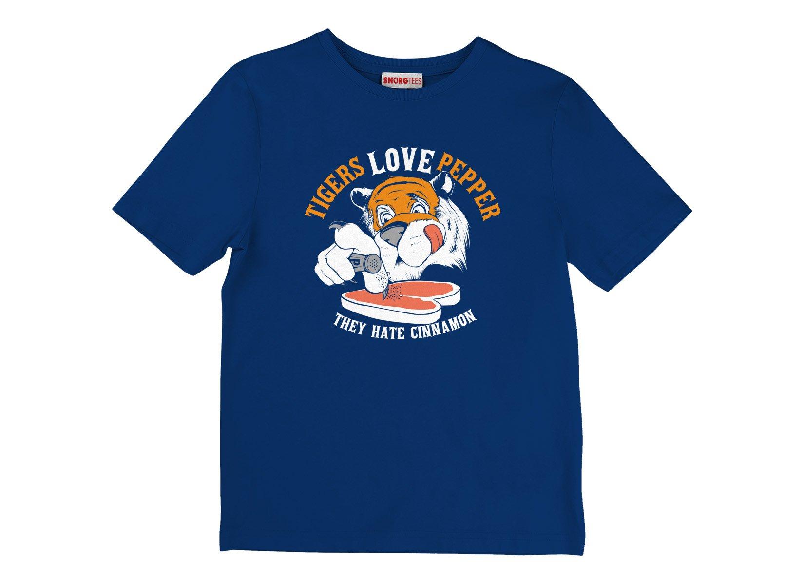 Tigers Love Pepper on Kids T-Shirt