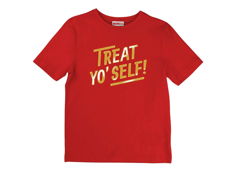 Treat Yo' Self! on Kids T-Shirt