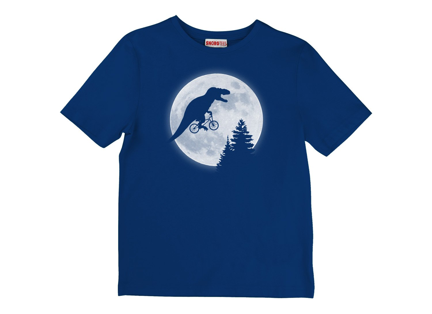 T-Rex Moon on Kids T-Shirt
