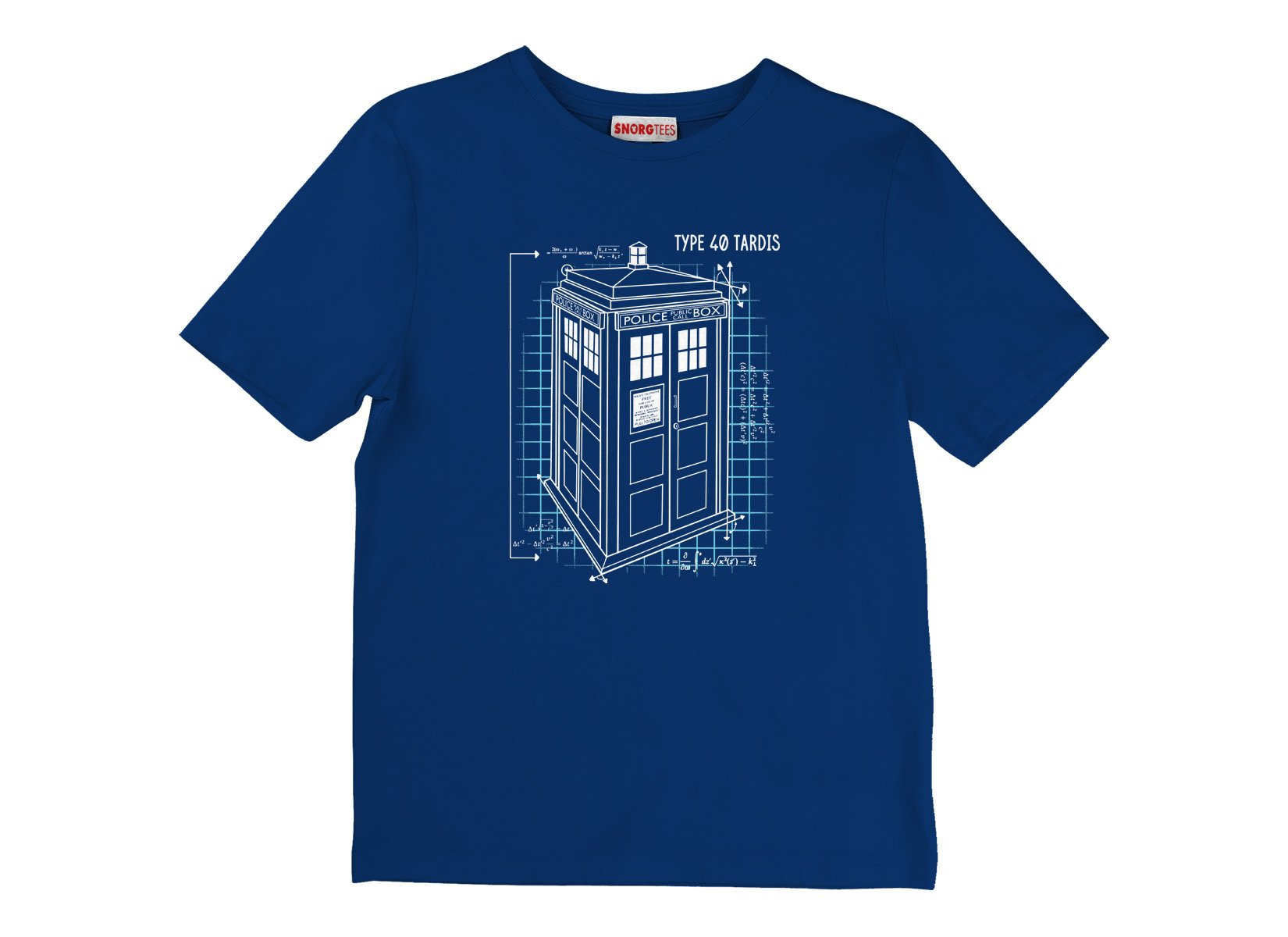 Type 40 Tardis on Kids T-Shirt