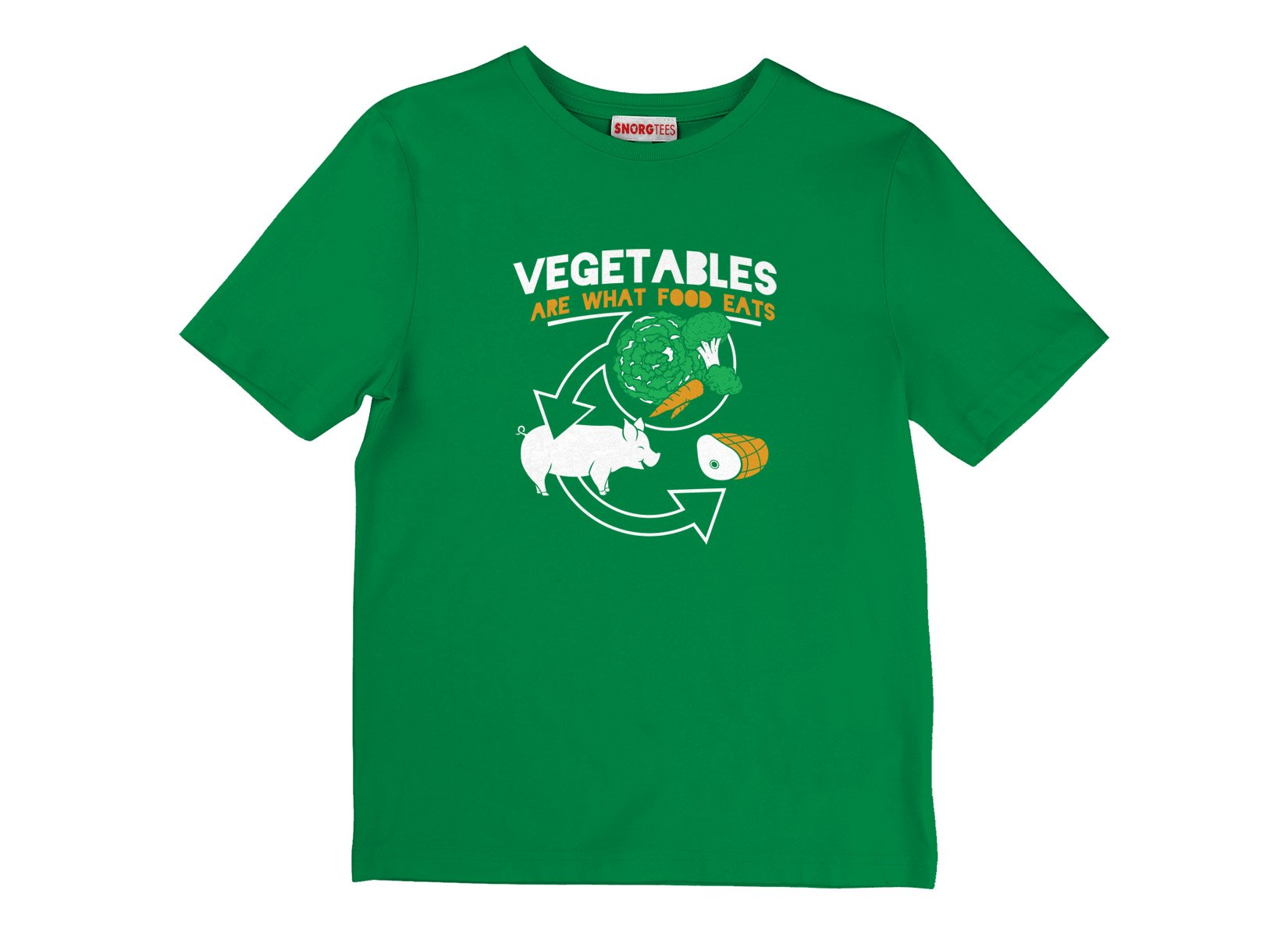 Vegetables Are What Food Eats on Kids T-Shirt