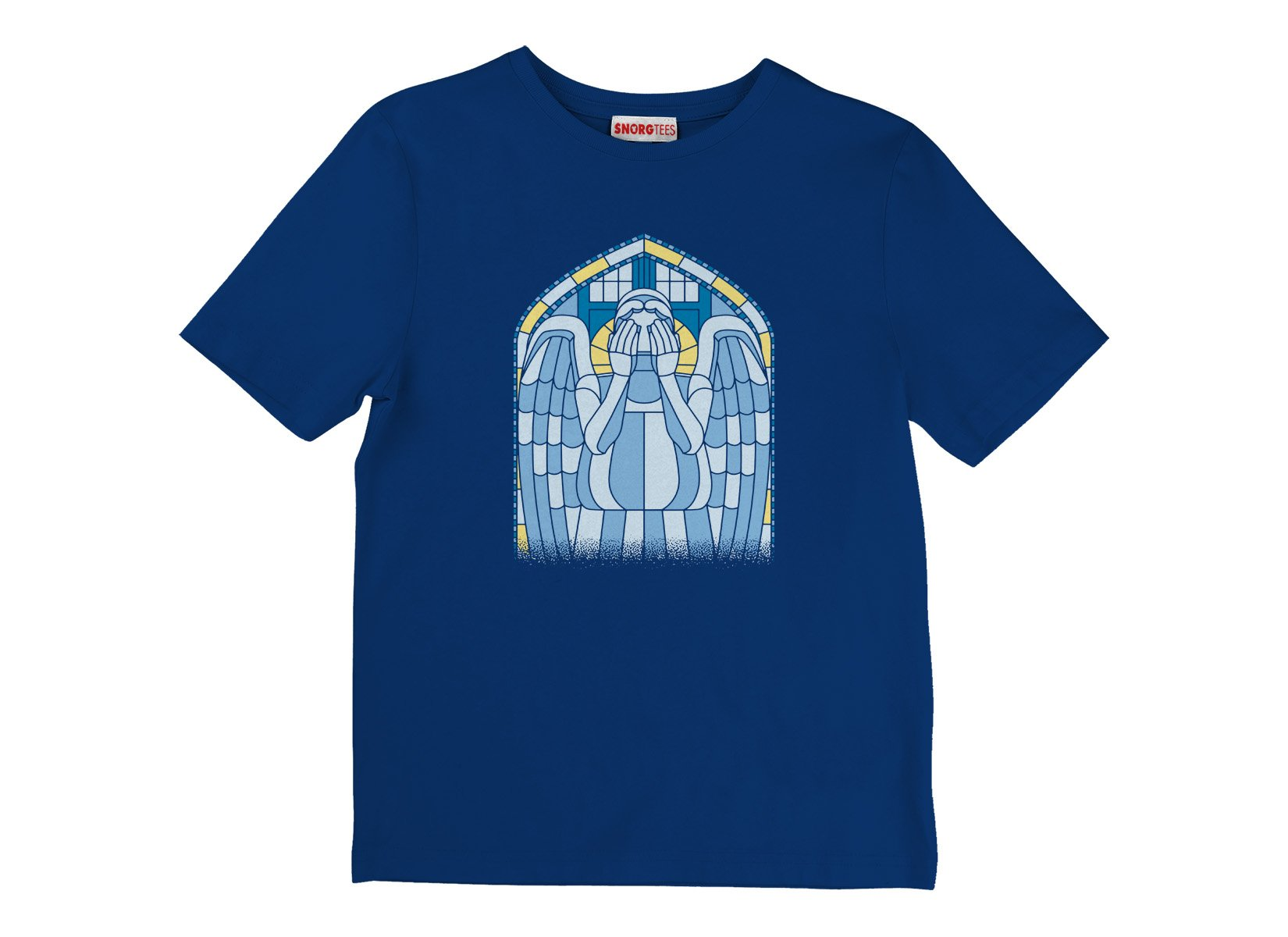 Weeping Angel on Kids T-Shirt
