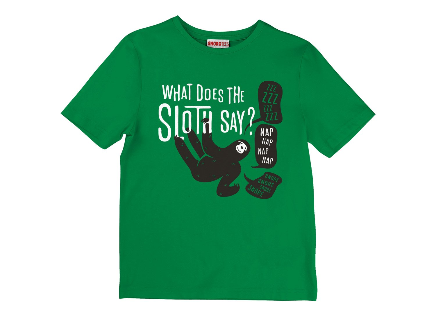 What Does The Sloth Say? on Kids T-Shirt